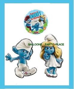 Smurfs Party Balloons Birthday Supplies Decorations 3