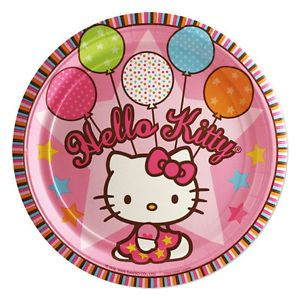 Hello Kitty Birthday Party Supply 8 Pack Set for 16