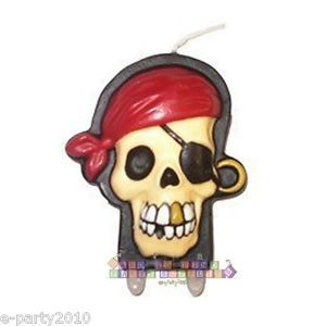 Pirate Wilton Cake Candle Birthday Party Supplies Skull Crossbones Caribbean