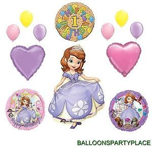 1st Birthday Sofia The First Balloons Set Party Supplies Disney Princess Girls