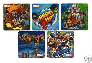 15 Marvel Super Hero Squad Stickers Kid Party Goody Loot Bag Filler Favor Supply