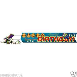 Disney Toy Story Game Time Banner Party Supplies Happy Birthday