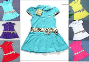 Baby Girl Checkered Polo Dress Plaid Clothing Newborn Bow Tennis Cotton 6 12 3 4