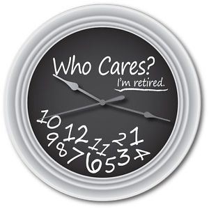 School Teacher Chalkboard Wall Clock Retired Retirement Who Cares Party Gift