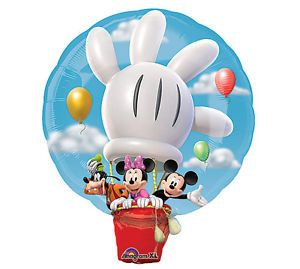 "Disney Mickey Minnie Mouse Goofy Hot Air Balloon 28"" Balloon Party Supply"