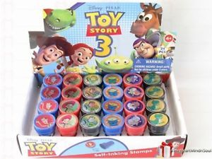 6 Disney Toy Story 3 Self Ink Stamps Party Favors Buzz Woody Jessie Loot V3