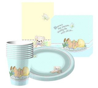 Precious Moments Party Supplies for Boy's Baby Shower or 1st First Birthday Set