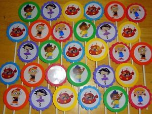 30 Little Einsteins Inspired Cupcake Toppers Birthday Party Favors Supply