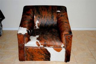 New Cowhide Chair All Tri Color Loveseat Western Decor