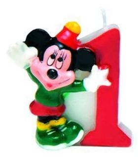 Mickey Mouse Party Mickey Friends Birthday Cake Candle Number 1