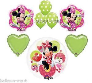 Balloons Disney Minnie Mouse Polka Dot Set Birthday Party Supplies Green Pink XL
