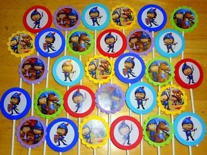 30 Mike The Knight Inspired Cupcake Toppers Birthday Party Favors Supply