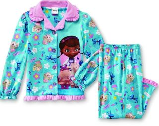New Sz 3 3T Disney Doc McStuffins Pajamas Shirt Pants Girl Lammy Blue Pink