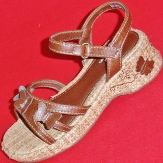 New Girl's Toddler's KK Gracie Brown Wedge Fashion Sandals Casual Dress Shoes