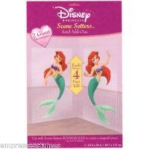 Disney Princess Ariel Mermaid Scene Setter Props Party Decorations Supplies