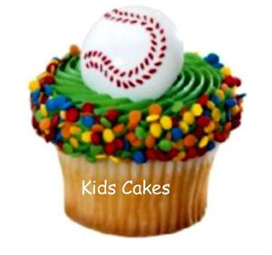 Baseball Cupcake Rings Sports Cake Toppers Birthday Party Supplies Favors 24