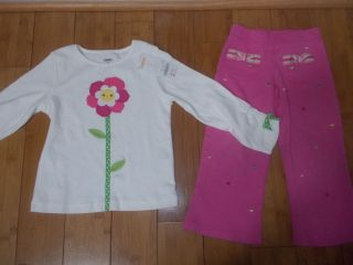 Toddler Baby Girls Clothes Gymboree Hearts Pants New Shirt Size 3T Spring