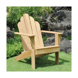 New 100 Teak Wood Adirondack Chair Deep Seat Wide Armrests Outdoor Furniture