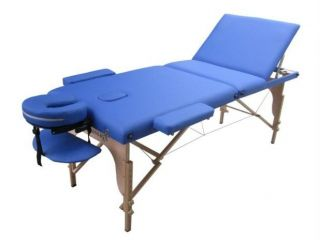 Blue Portable Reiki Massage Table Tattoo Spa Beauty Facial Bed Supply Chair U3