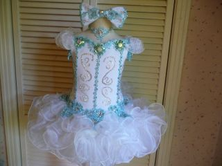 Blue and White High Glitz Pageant Dress