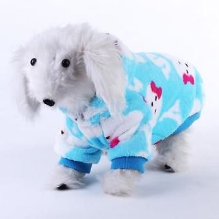Soft Fluffy Hoodie Pet Dog Pajamas Coat Clothes Apparel Bear Picture Lovely XL
