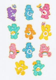 11 Care Bear Bears So Cute Hand Cut Iron on from Licensed Fabric Applique