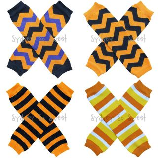 Leg Warmers Halloween Chevron Stripe Candy Corn Baby Toddler Kid Girl or Boy