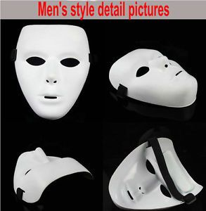 10 Jabbawockeez Mask Buckethead Blank White Male Face Hiphop Mask Party Juminous