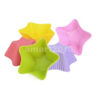 Non Stick Silicone Star Shape Cake Cupcake Chocolate Muffin Mold Maker