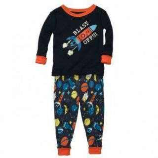NWT OshKosh Infant Toddler Boys 2 Piece Rocket Cotton Pajama Set Was $26