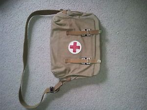 Vintage Old WWII WW2 Russian Military Field Medic First Aid Kit Bag 1942