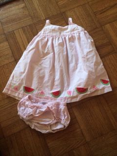 Baby Girl Pink Adorable Watermelon Summer Dress 2 Pieces Gymboree 6 12 Months