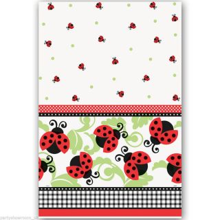 "54""x84"" Lovely Ladybugs Birthday Baby Shower Party Plastic Table Cover"