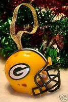 Green Bay Packers Christmas Bell NFL Football Helmet Ornament
