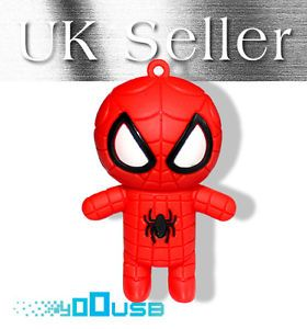 8GB Cute Cartoon Spider Man USB Flash Pen Drive Memory Stick Gift UK
