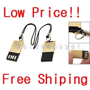 USB 2 0 SD Memory Card Reader T Flash MicroSD MMC