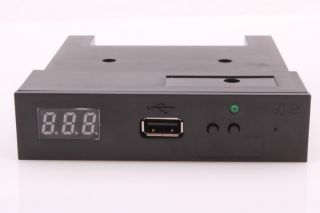 "Black 5V 3 5"" 1 44MB Floppy Disk Drive Emulator to USB Flash Drive Simple Plug"