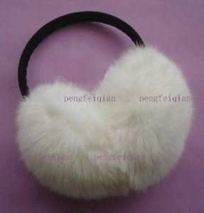 New White Soft Warm Real Rabbit Fur Earmuffs Ear Muffs