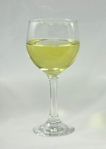 White Wine Stemmed Glass Realistic Fake Food Drinks Fun Barware Party Decor