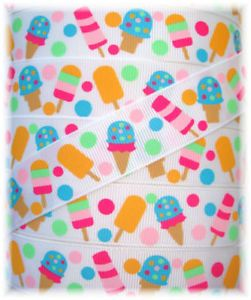 7 8 Popsicle Party Beach Treat Ice Cream MTMG Grosgrain Ribbon 4 Hairbow Bow