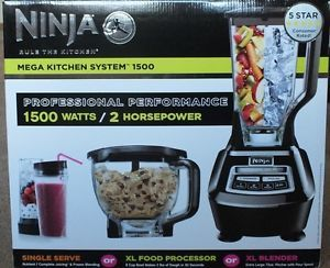 Black Ninja Mega Kitchen System Blender Juicer Mixer Food Processor 1500