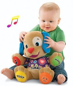 Musical Laugh Learn Love Play Educational Baby Toy Puppy Plush English Songs