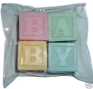 Baby Blocks Gift Soaps Baby Shower Party Favor in Organza Bag