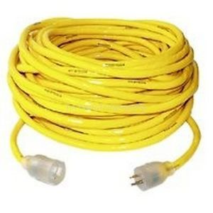 Coleman Cable Yellow Jacket 2885 12 3x100ft Outdoor Grounded Extension Cord