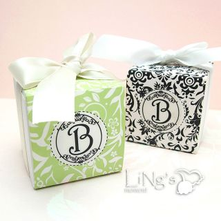 "2""X2""X2"" White Wedding Party Favor Candy Gift Box with Slip"