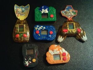 Lot of 6 Sonic The Hedgehog Mini LCD Handheld Toy Games from McDonald's Sega