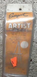 Vintage New SEALED Sargent 66 inch Wood Artist Easel Ramin Hardwood