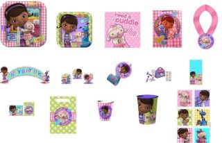 New Disney Doc McStuffins Birthday Supplies Pick 1 or Create A Set Many Choices