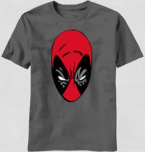 New Dead Pool Deadpool Head Face Mask x Men Wolverine T Shirt Top Marvel Comics