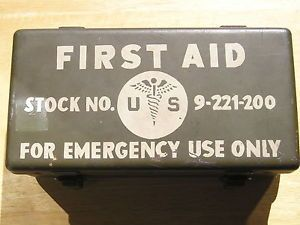 World War II WWII WW2 Carlisle First Aid Kit with Contents